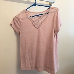 Pink Shirt with Crosses